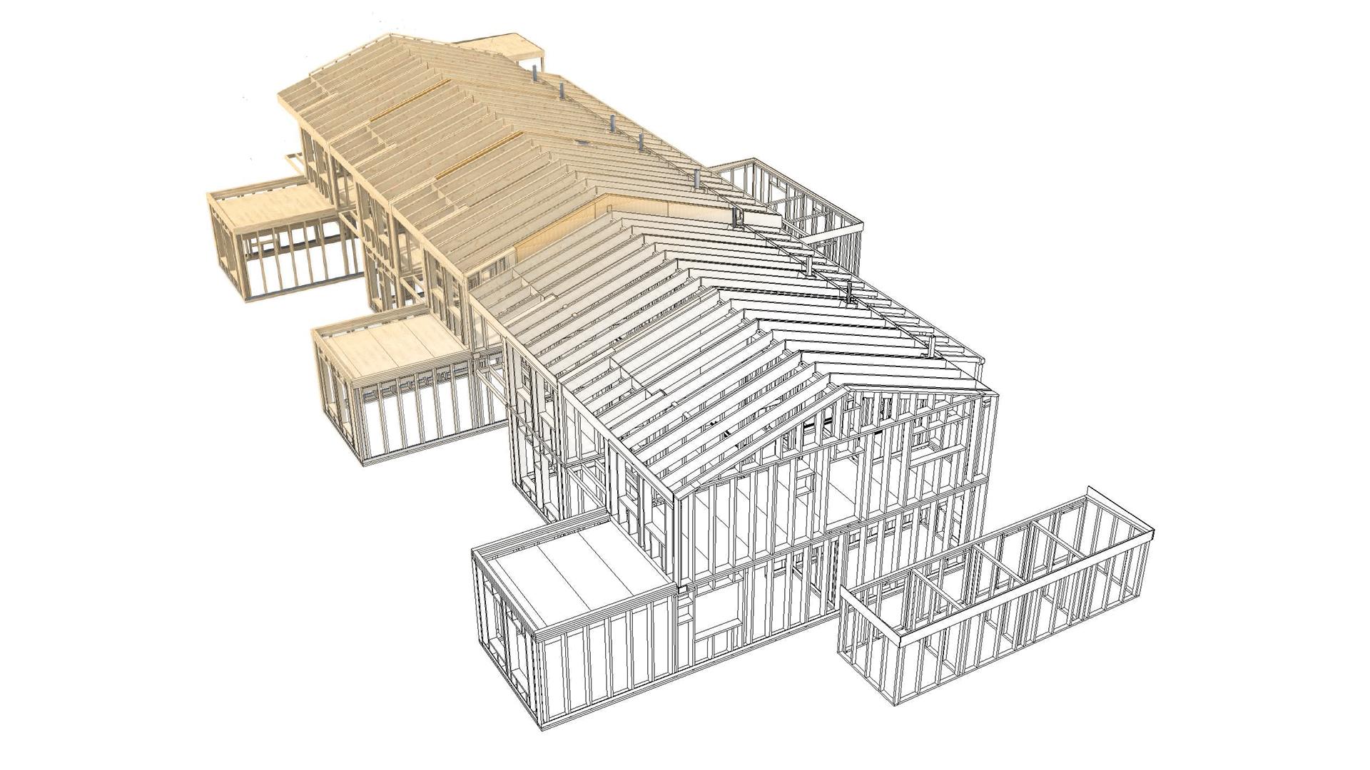 Musterhaus Eiche Konstruktionszeichnung